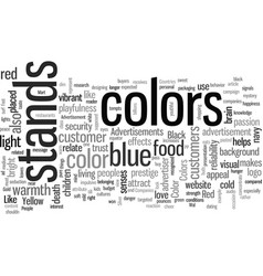Impact colors in advertisements vector