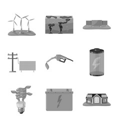 isolated object renewable and environment sign vector image