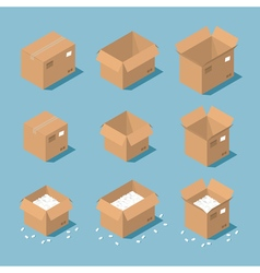 Isometric parcel box vector image