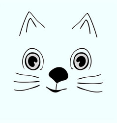 kitty cute funny cartoon cat head vector image