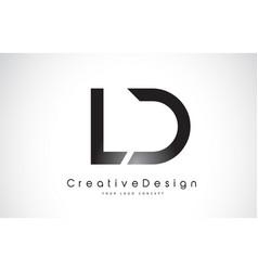 Ld l d letter logo design creative icon modern vector