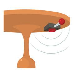 Listening device icon cartoon style vector