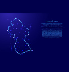 map guyana from the contours network blue vector image