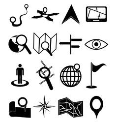 maps navigation icons set vector image