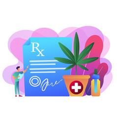 Medical marijuana concept vector