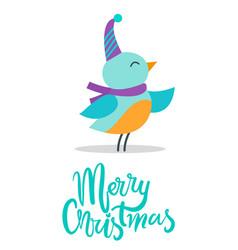 Merry christmas birdie title vector