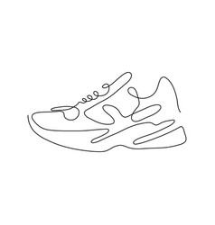 one line sneaker design silhouettehand drawn vector image