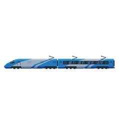 passenger train modern railway locomotive vector image
