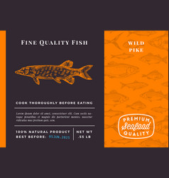 premium quality pike abstract packaging vector image