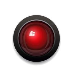 Red Alarm Light Bulb vector