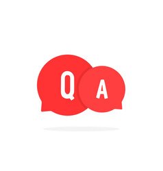 Red cartoon bubble like question answer vector