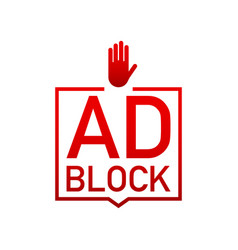 Red label ad block on white background vector