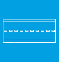 Road icon outline style vector