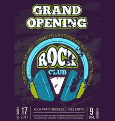 Rock music club music shop with headphones vector