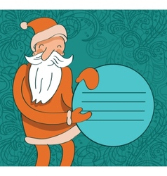 santa with circle banner vector image