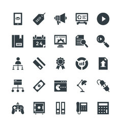 SEO and Internet Marketing Cool Icons 4 vector image