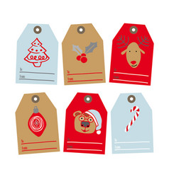 set tags for gifts vector image