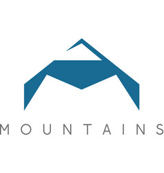 Simple of the abstract mountains vector