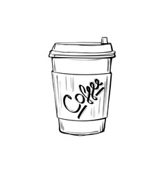 Sketch coffee cup vector