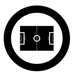 soccer field icon black color in circle vector image