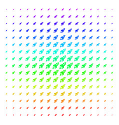 space rocket launch icon halftone spectrum effect vector image