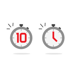 stopwatch timer icon set with fast time vector image