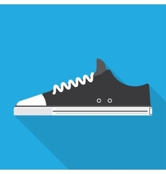 Style sport sneakers shoe vector