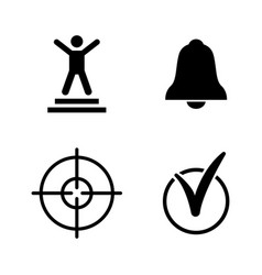 successful idea goal simple related icons vector image