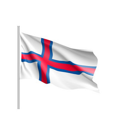 The faroe islands national flag vector