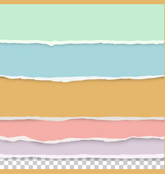 torn paper edges seamless horizontally vector image