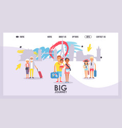 Travel agency website design vector