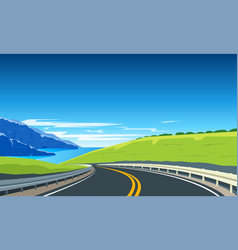 Turning highway banner vector