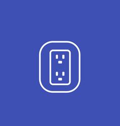 uk british socket icon vector image