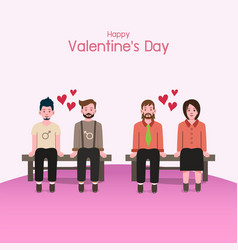 valentines day background couples in love vector image