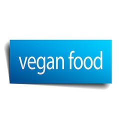 vegan food blue paper sign isolated on white vector image