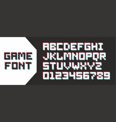 Video game pixel font vector