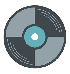 vinyl disk icon isolated vector image