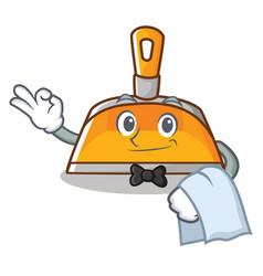 waiter dustpan character cartoon style vector image
