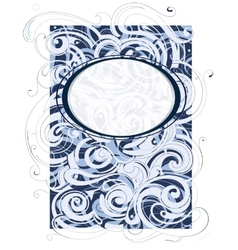 Water and wind swirls ornament vector