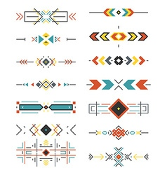 Aztec Borders vector image vector image