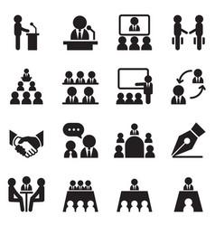 Business meeting training seminar interview vector