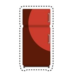 Fridge kitchen appliance isolated icon vector