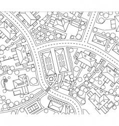 neighborhood outline vector image