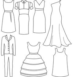 women clothes vector image