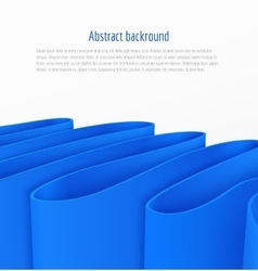 Abstract 3d blue paper ribbon background vector image vector image