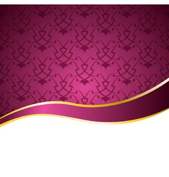 decorative background with a pattern and a ribbon vector image