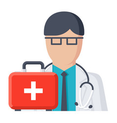 doctor on call vector image