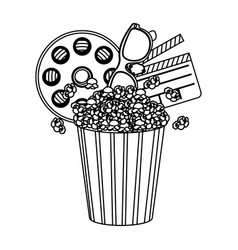 pop corn film and clipart icon vector image