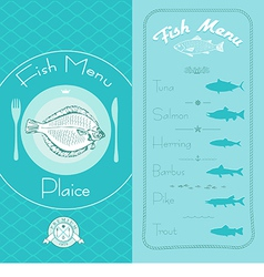 Fish menu set vector image vector image