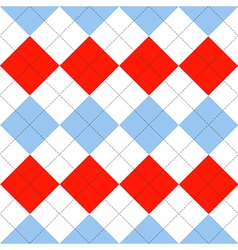 Lines Dots Blue Serenity Red White Diamond vector image vector image